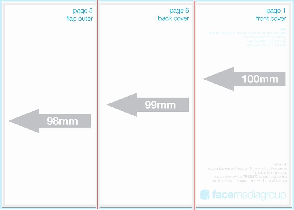 A4 Tri Fold Brochure Template Beautiful 6 Page Dl Leaflet Roll Fold Outside Edge Aka A4 Trif