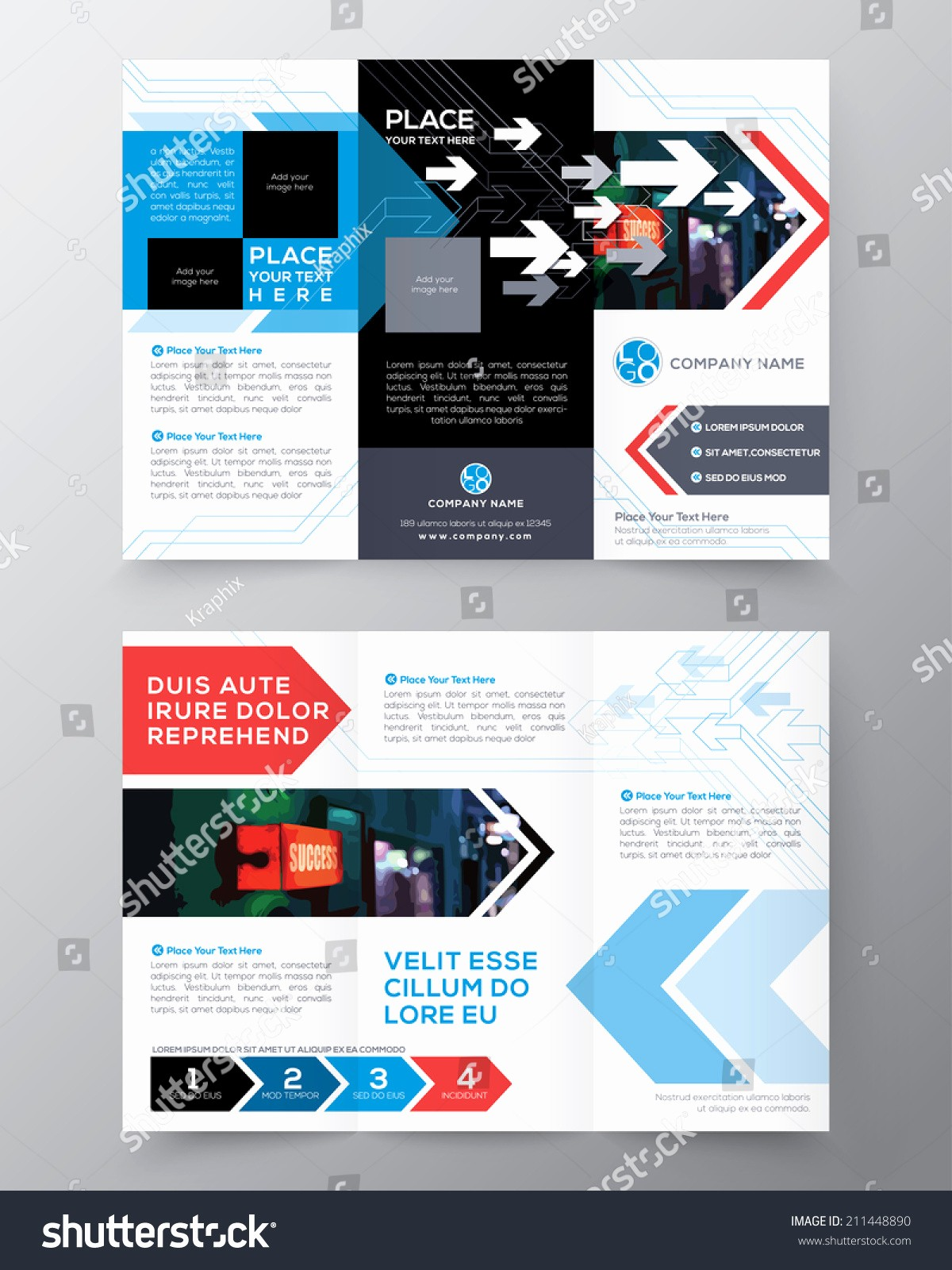 A4 Tri Fold Brochure Template Beautiful Tri Fold Brochure Flyer Design Layout Vector Template In
