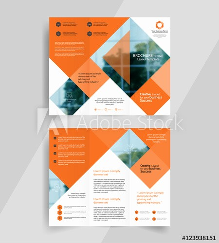 A4 Tri Fold Brochure Template Elegant Business Tri Fold Brochure Layout Design Vector A4