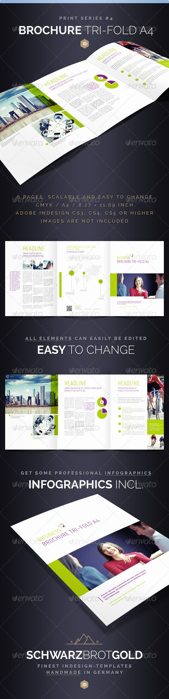 A4 Tri Fold Brochure Template Elegant Print Templates Brochure Tri Fold A4 Series 4