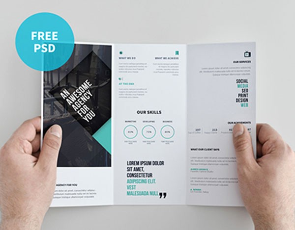 A4 Tri Fold Brochure Template Fresh 8 Horizontal Brochure Design Psd Tri Fold