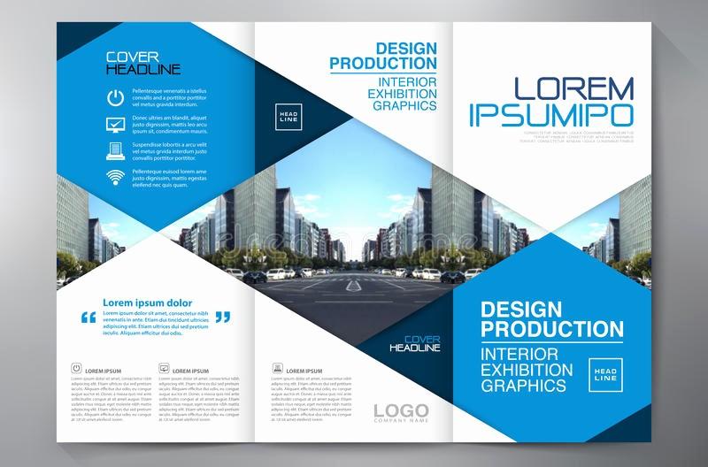 A4 Tri Fold Brochure Template Fresh Brochure 3 Fold Flyer Design A4 Template Stock Vector