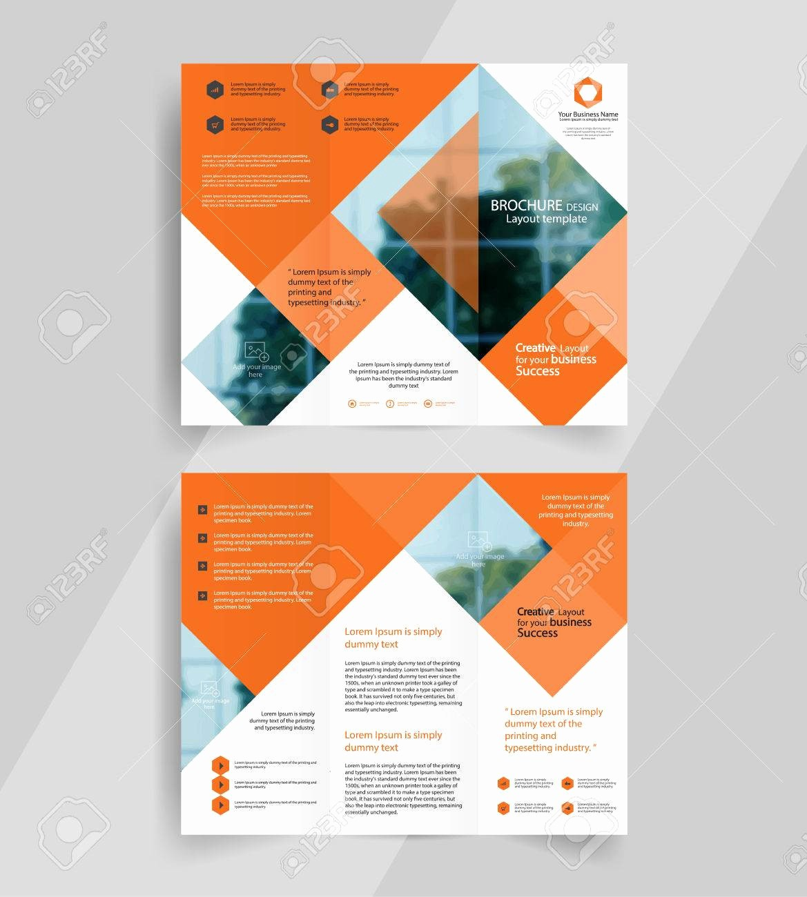 A4 Tri Fold Brochure Template Fresh Business Tri Fold Brochure Layout Design Vector A4 within
