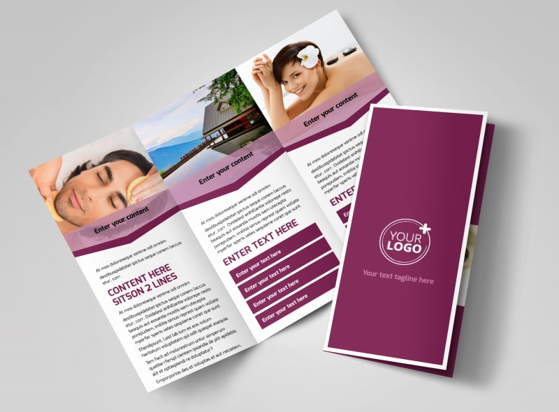 A4 Tri Fold Brochure Template Fresh Spa Resort Brochure Template