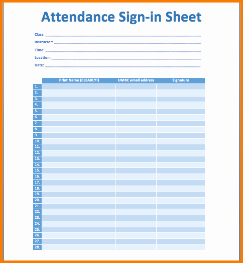 Aa Meetings Sign In Sheet Awesome 5 attendance Sheet