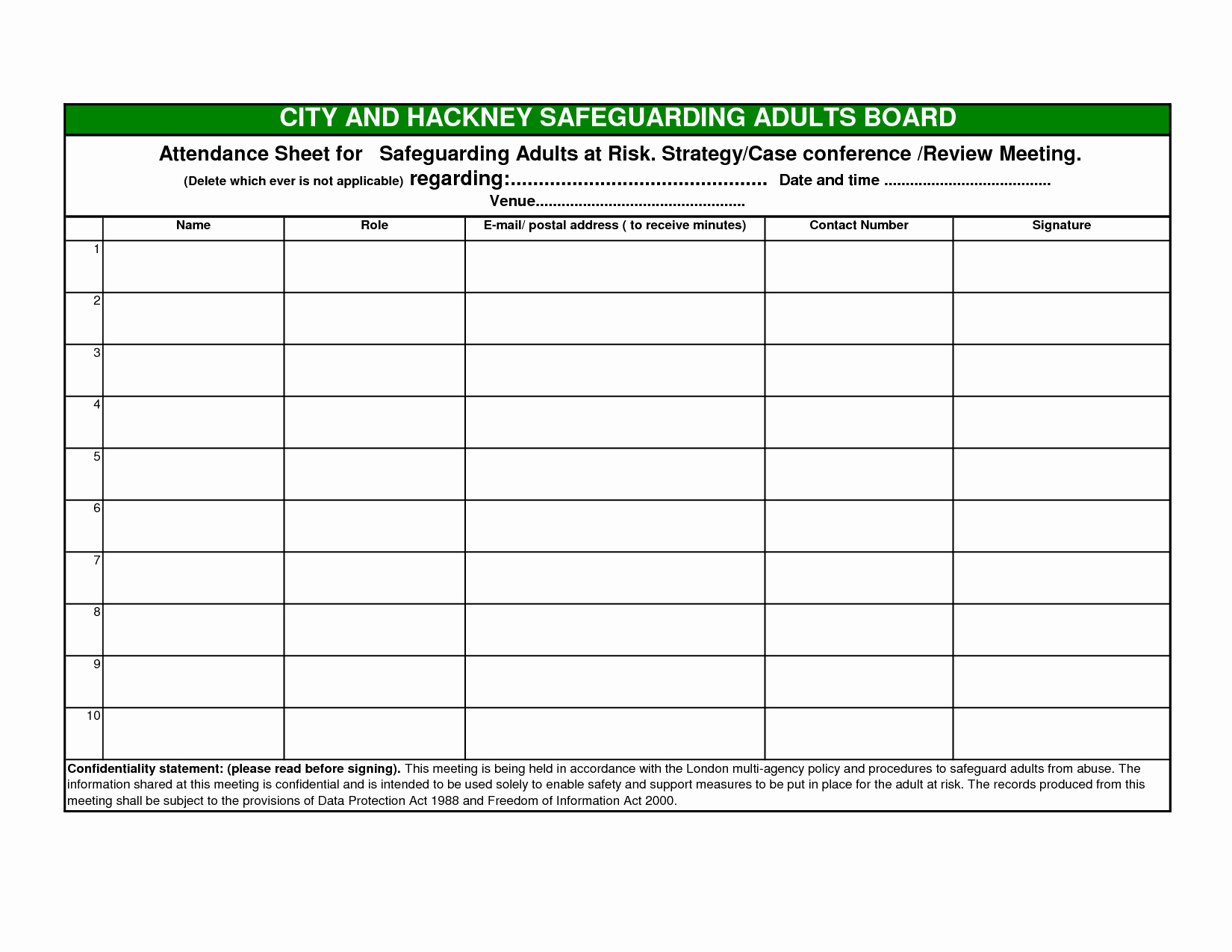 Aa Meetings Sign In Sheet New Aa Meeting attendance Sheet Template to Pin On