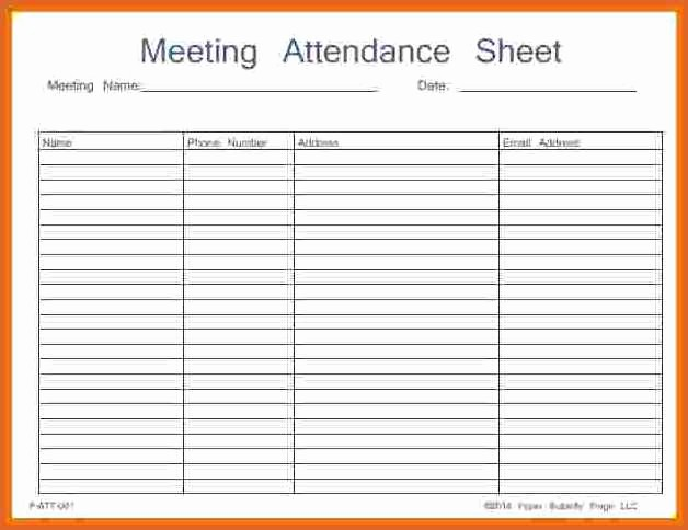 Aa Sign In Sheet Printable Fresh 15 Aa Meeting Sign In Sheet
