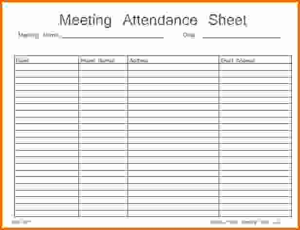 Aa Sign In Sheet Template New Aa Meeting attendance Sheet Template to Pin On