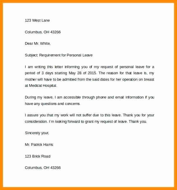 Absence From School Letter Template Elegant Unauthorised Absence Letter Template – Smartfone