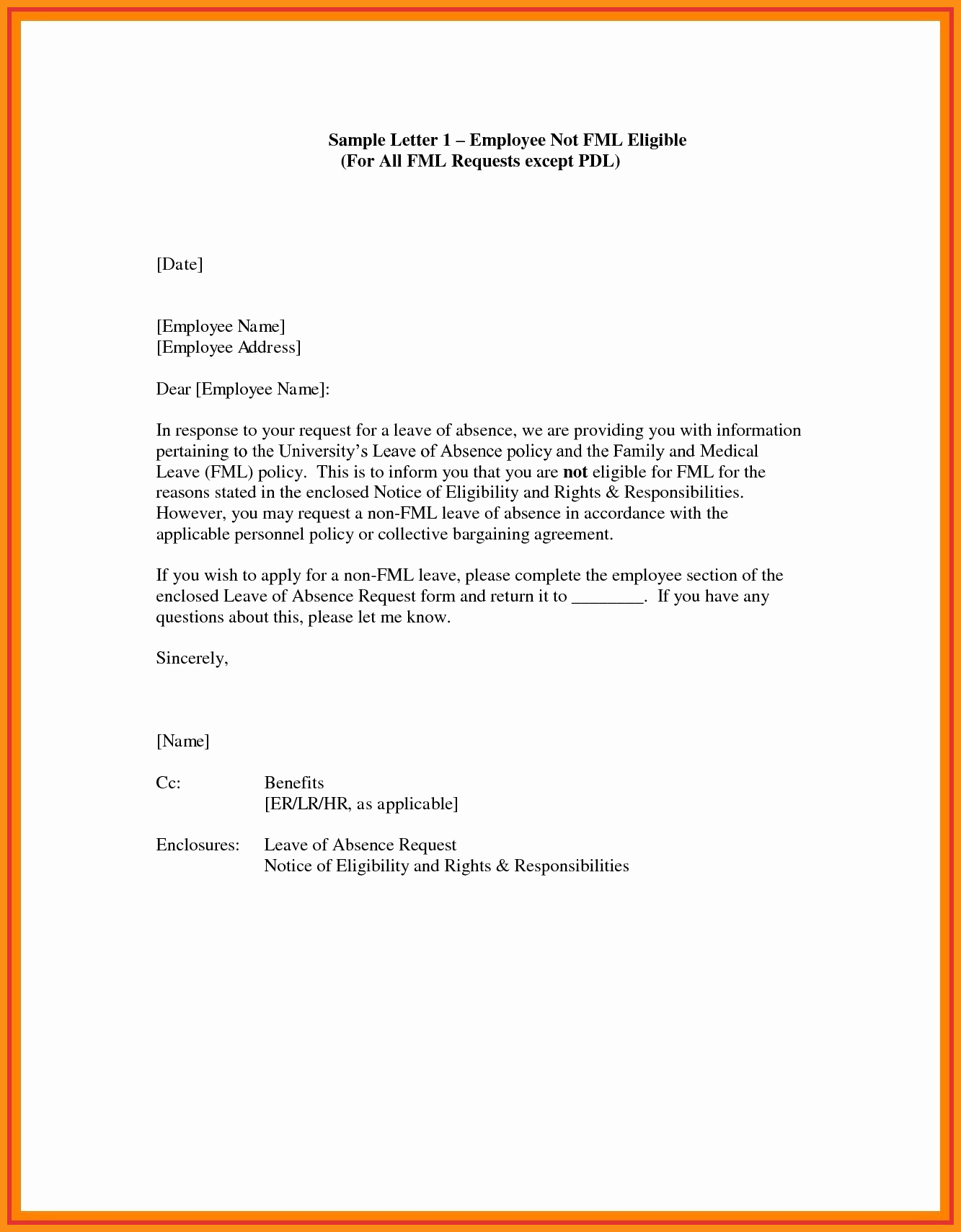Absence From School Letter Template Luxury 4 5 Letter Requesting A Leave Of Absence