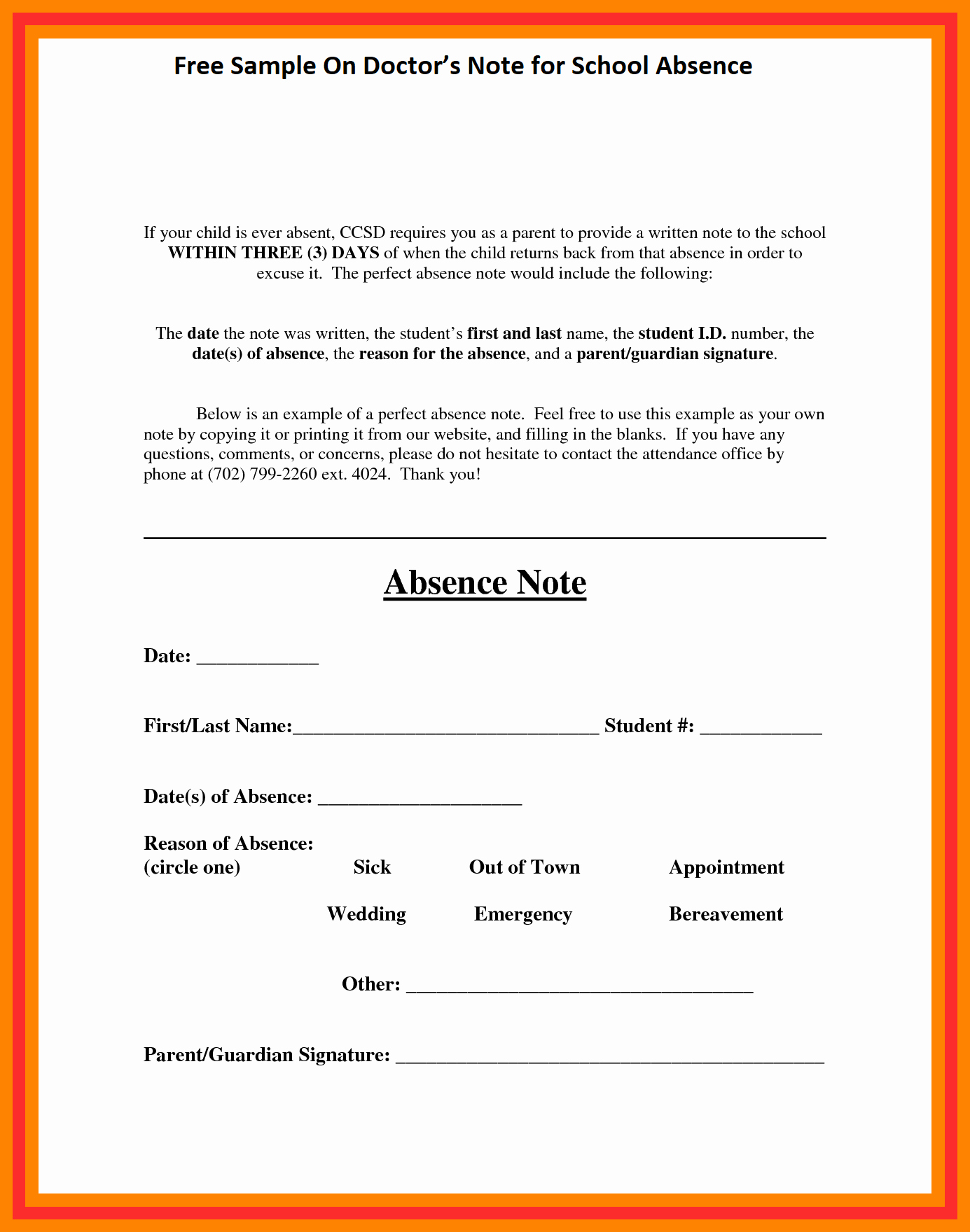 Absence Note for School Examples Unique Free Sample Doctor S Note for School Absence