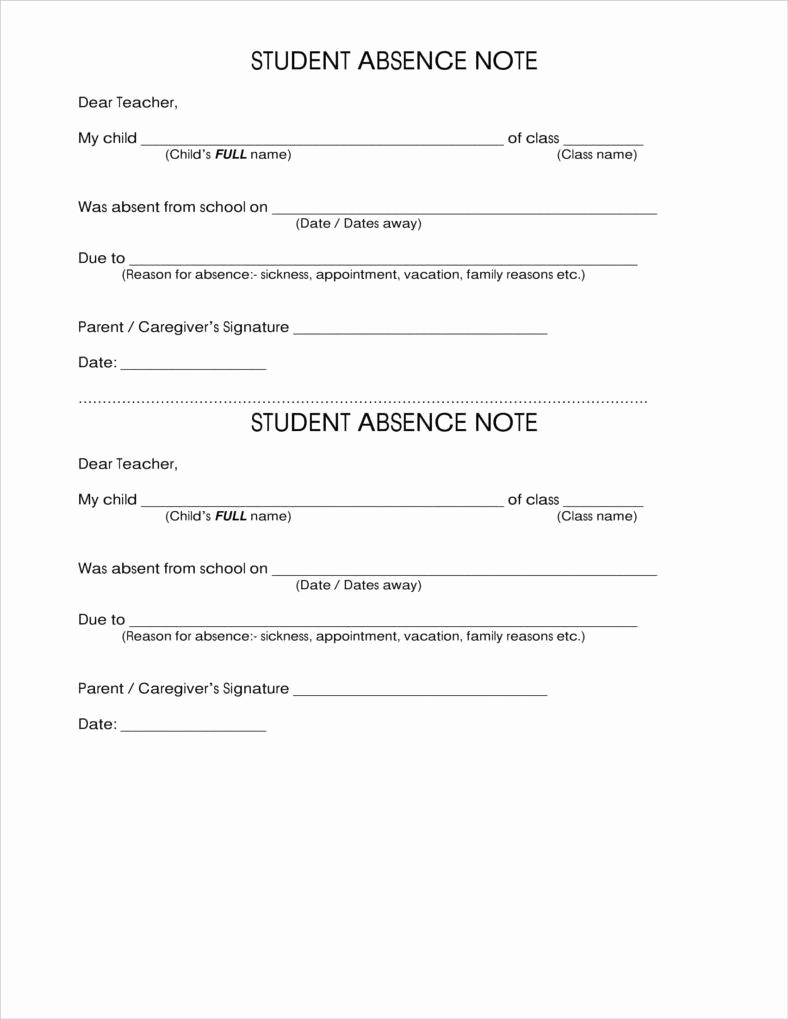 Absence Note Sample for School Awesome How to Make A School Note