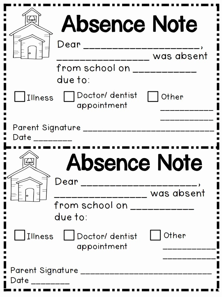 Absence Note Sample for School Beautiful Best 25 Absent Letter Ideas On Pinterest