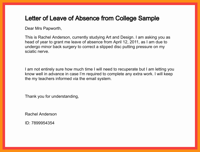 Absence Note Sample for School Best Of 5 6 How to Write A Absence Note for School