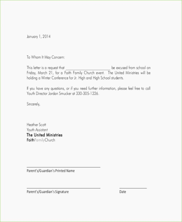 Absent From School Letter Sample Best Of School Absence Letter format – thepizzashop