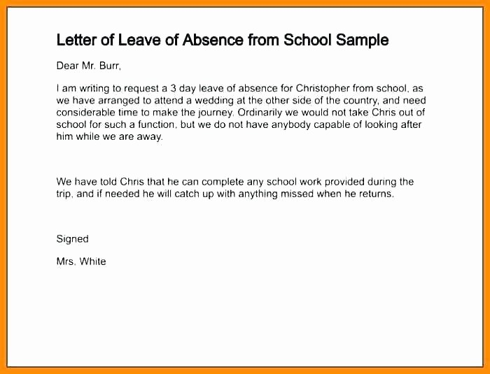 Absent From School Letter Template Lovely Absent Notes to School Best Note for format Efficient