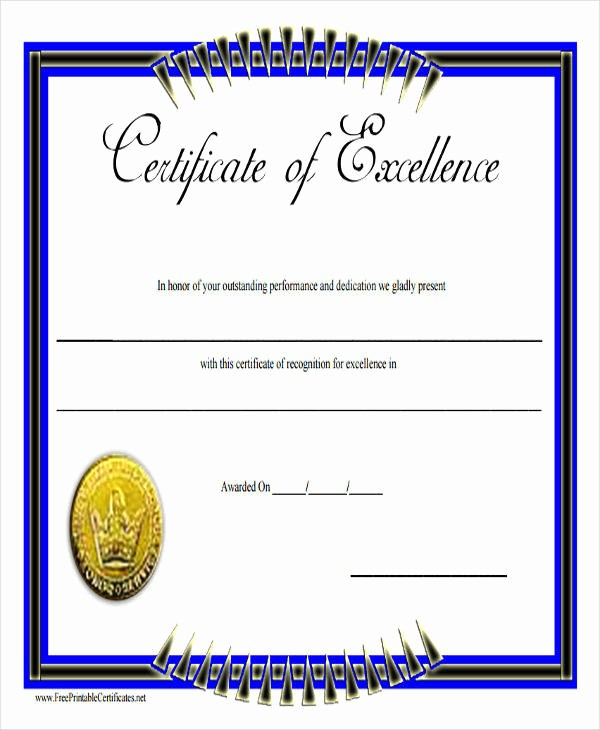 Academic Excellence Award Certificate Template Awesome 31 Free Award Certificates