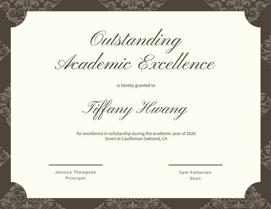 MAB2CCctak0 academic excellence certificate