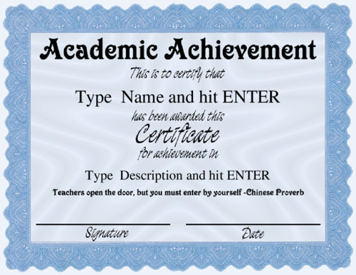 Academic Excellence Award Certificate Template Beautiful Academic Certificate Template Academic Award Certificate