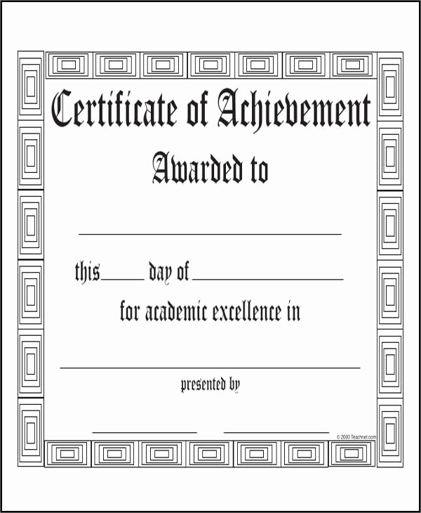 Academic Excellence Award Certificate Template Best Of 32 Printable Award Certificates