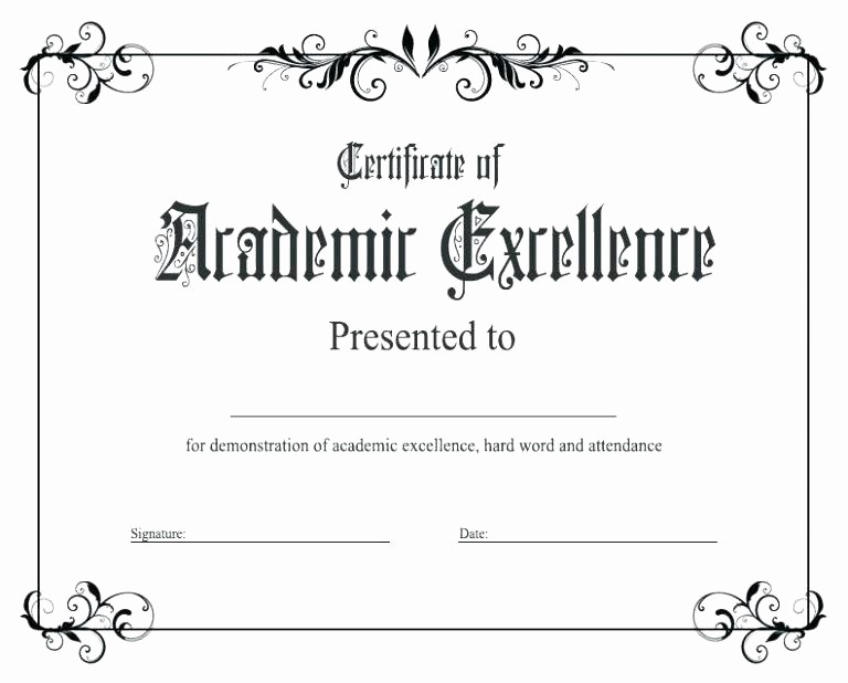 Academic Excellence Award Certificate Template Best Of Free Printable Student Award Certificate Template Editable