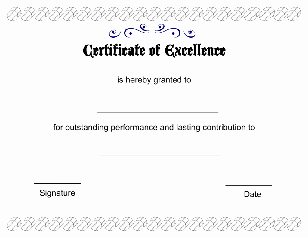 Academic Excellence Award Certificate Template Elegant Certificate Of Excellence Templates