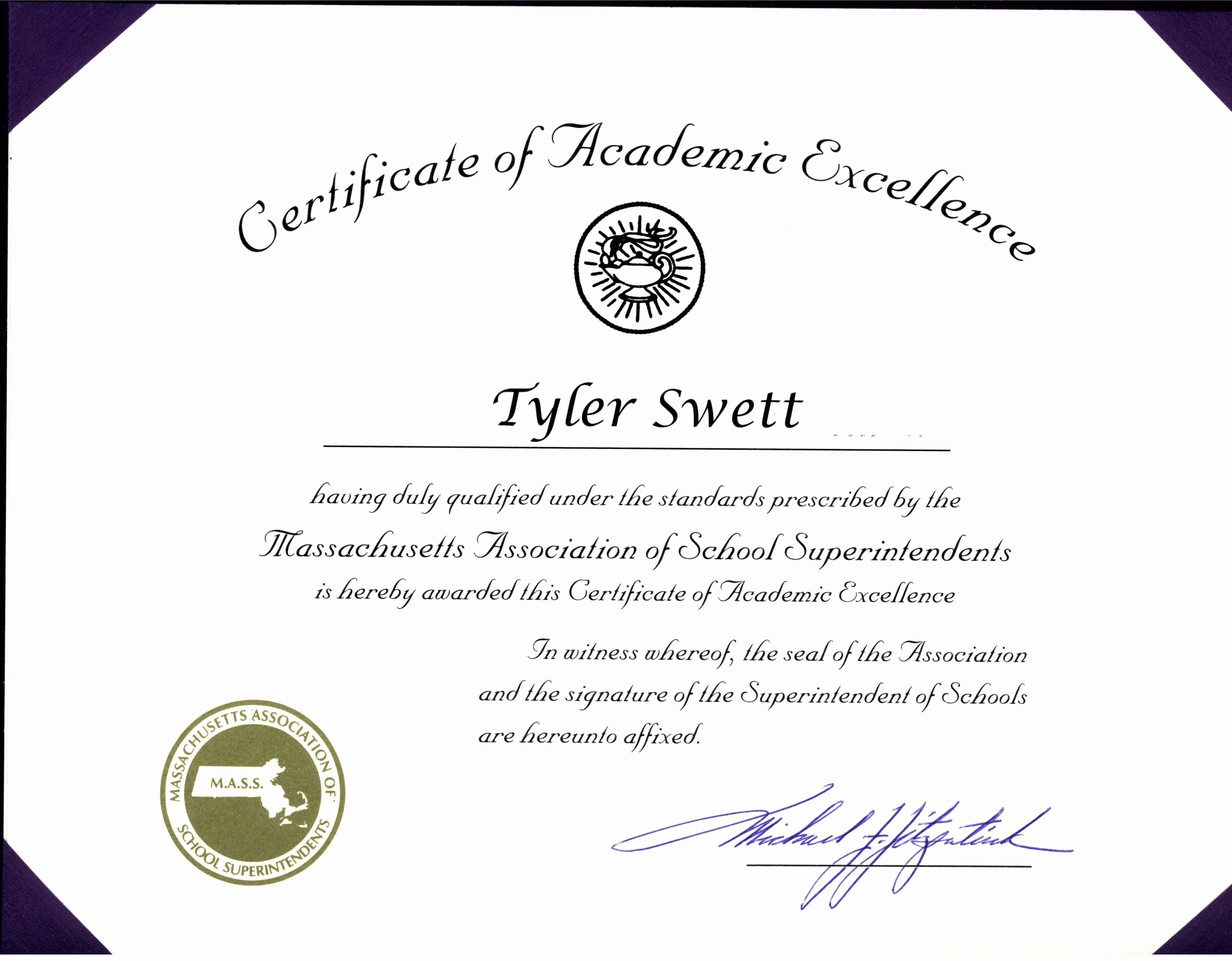 Academic Excellence Award Certificate Template Fresh Certificate Of Excellence Award Certificate Of Excellence