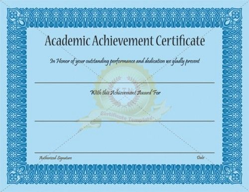 Academic Excellence Award Certificate Template Fresh Pinterest • the World's Catalog Of Ideas