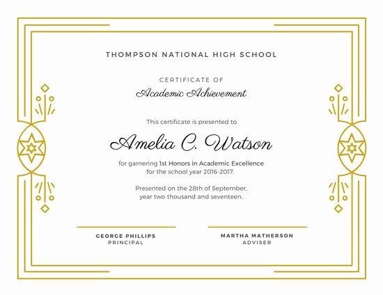 Academic Excellence Award Certificate Template Inspirational Customize 534 Award Certificate Templates Online Canva