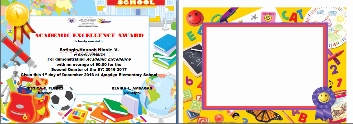 Academic Excellence Award Certificate Template Inspirational Procedure On Ranking Pupils Excellence Award Certificate