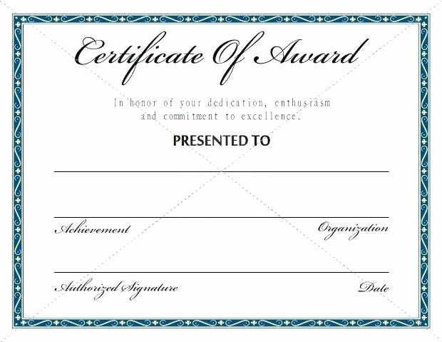 Academic Excellence Award Certificate Template Luxury Certificate Excellence Award Best Free Templates