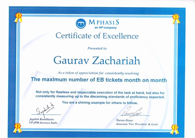 Academic Excellence Award Certificate Template New Certificate Of Excellence Mphasis