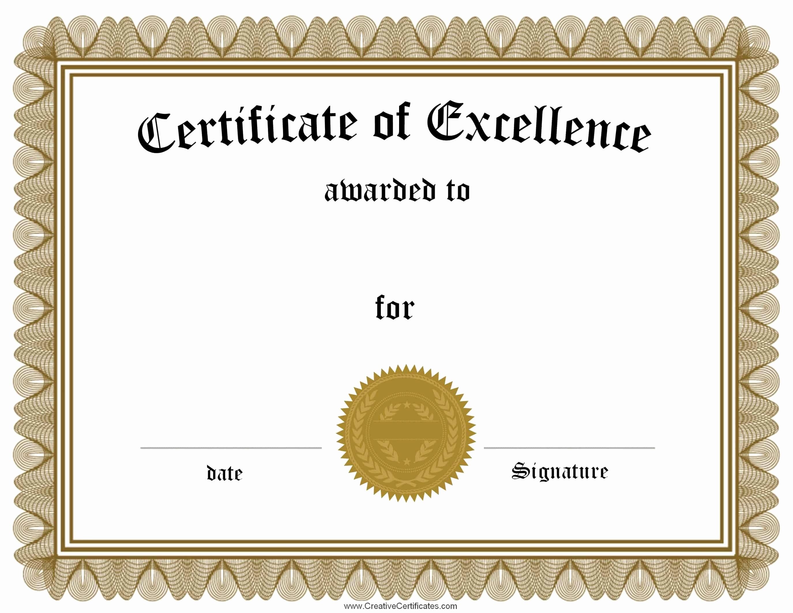 Academic Excellence Award Certificate Template New Free Customizable Certificate Of Achievement