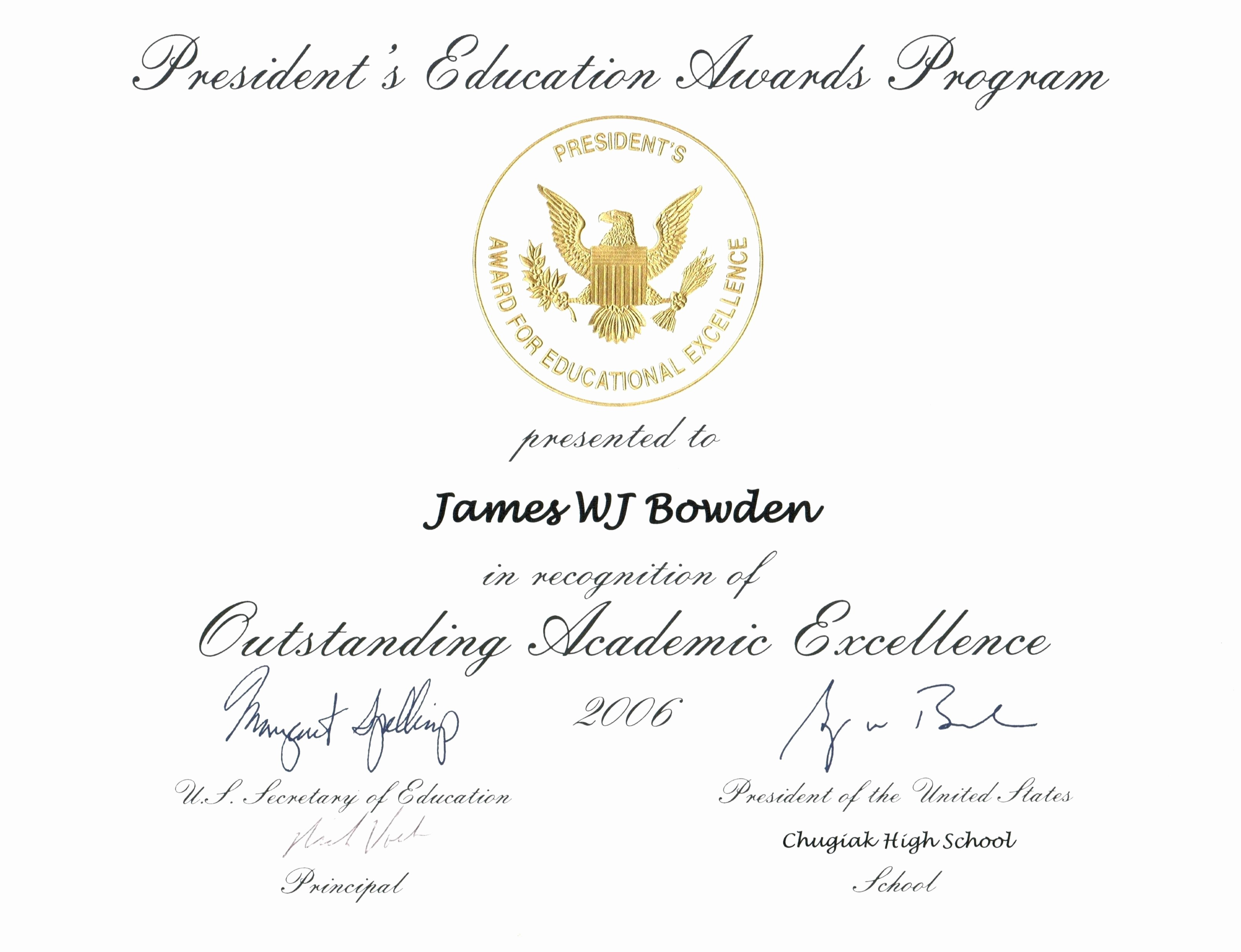 Academic Excellence Award Certificate Template New Powerpoint Excellence Award Template Image Collections