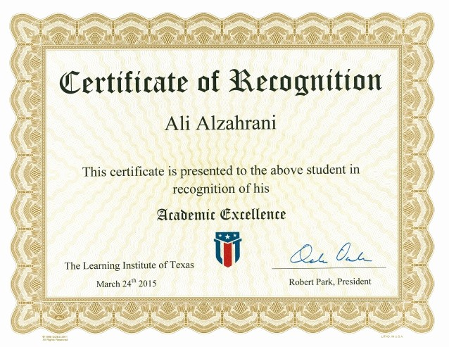 Academic Excellence Award Certificate Template Unique Academic Excellence Certificate