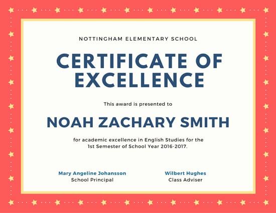 Academic Excellence Award Certificate Template Unique Customize 979 Certificate Templates Online Canva