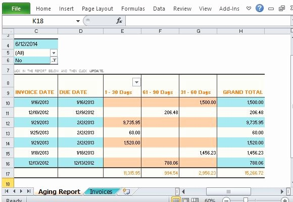Accounts Receivable Excel Template Free Awesome Track Accounts Receivable with Invoice Aging Report