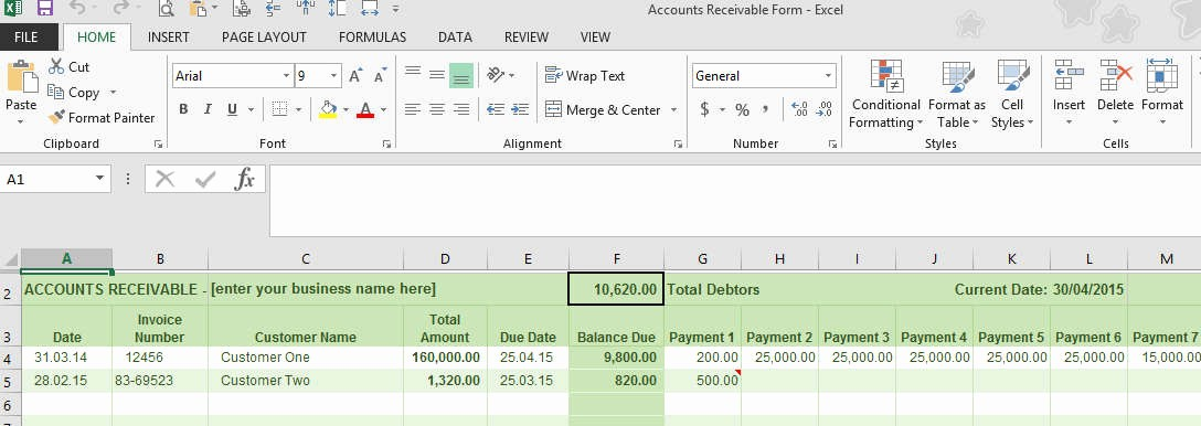 Accounts Receivable Excel Template Free Best Of Accounts Receivable Ledger