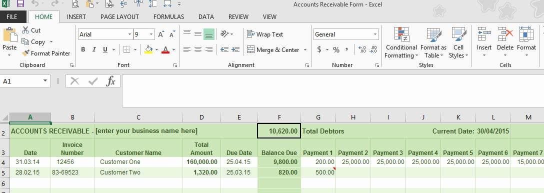 Accounts Receivable Excel Template Free Best Of Accounts Receivable Ledger