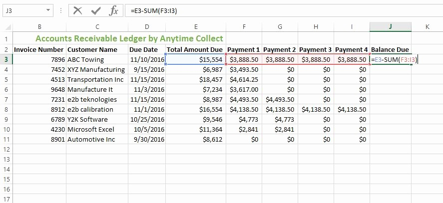 Accounts Receivable Excel Template Free Elegant How to Create An Accounts Receivable Ledger In Excel