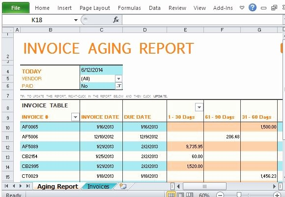 Accounts Receivable Excel Template Free Elegant Track Accounts Receivable with Invoice Aging Report