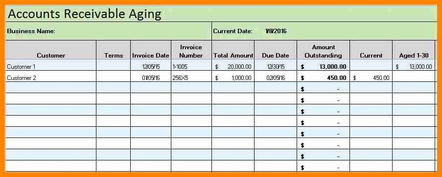 Accounts Receivable Excel Template Free Fresh 5 Excel Accounting Ledger Template Free