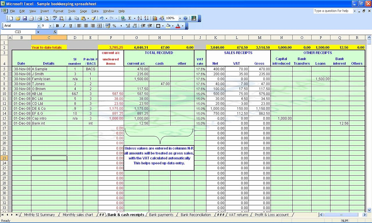 free accounting spreadsheet templates small business