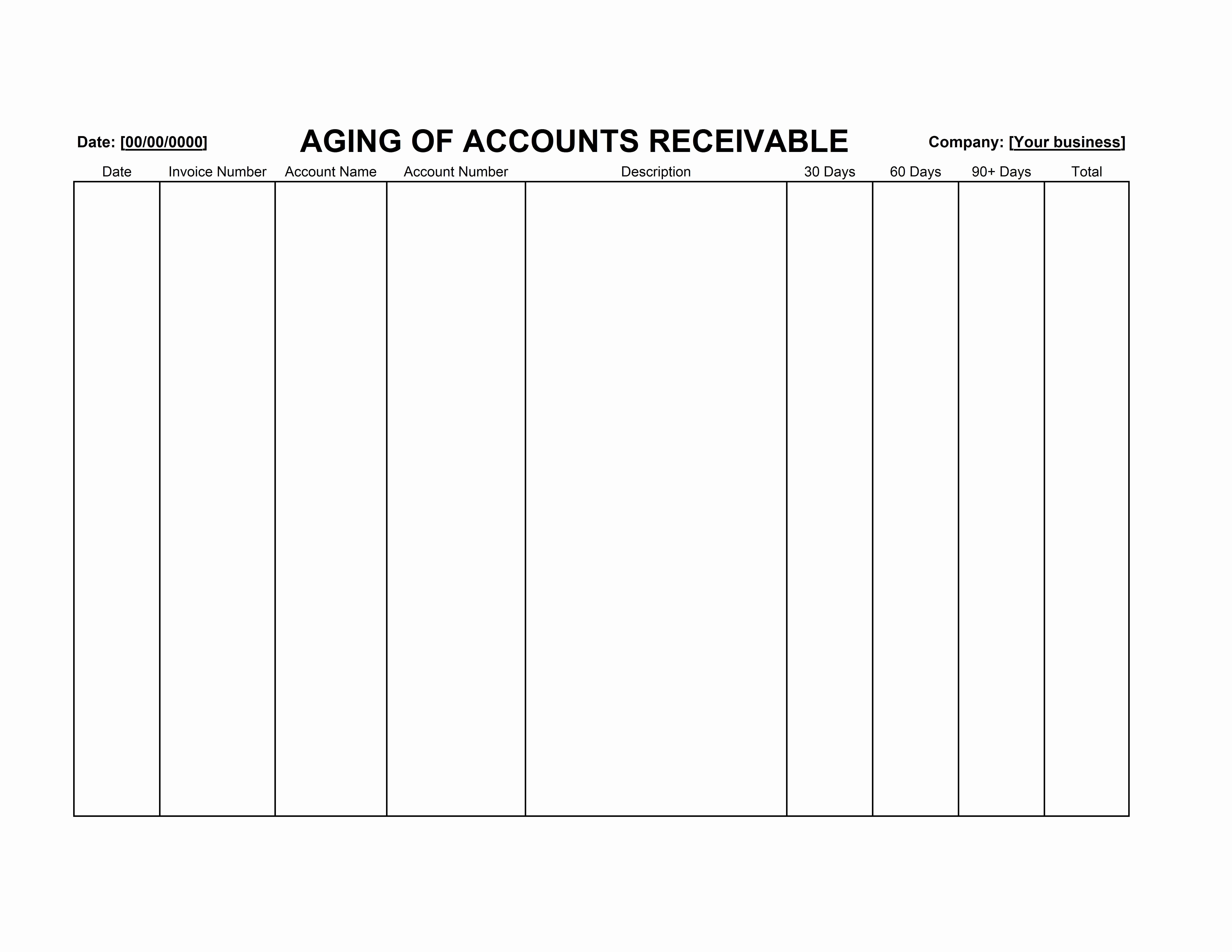 Accounts Receivable Excel Template Free Lovely Accounts Receivable Aging Template