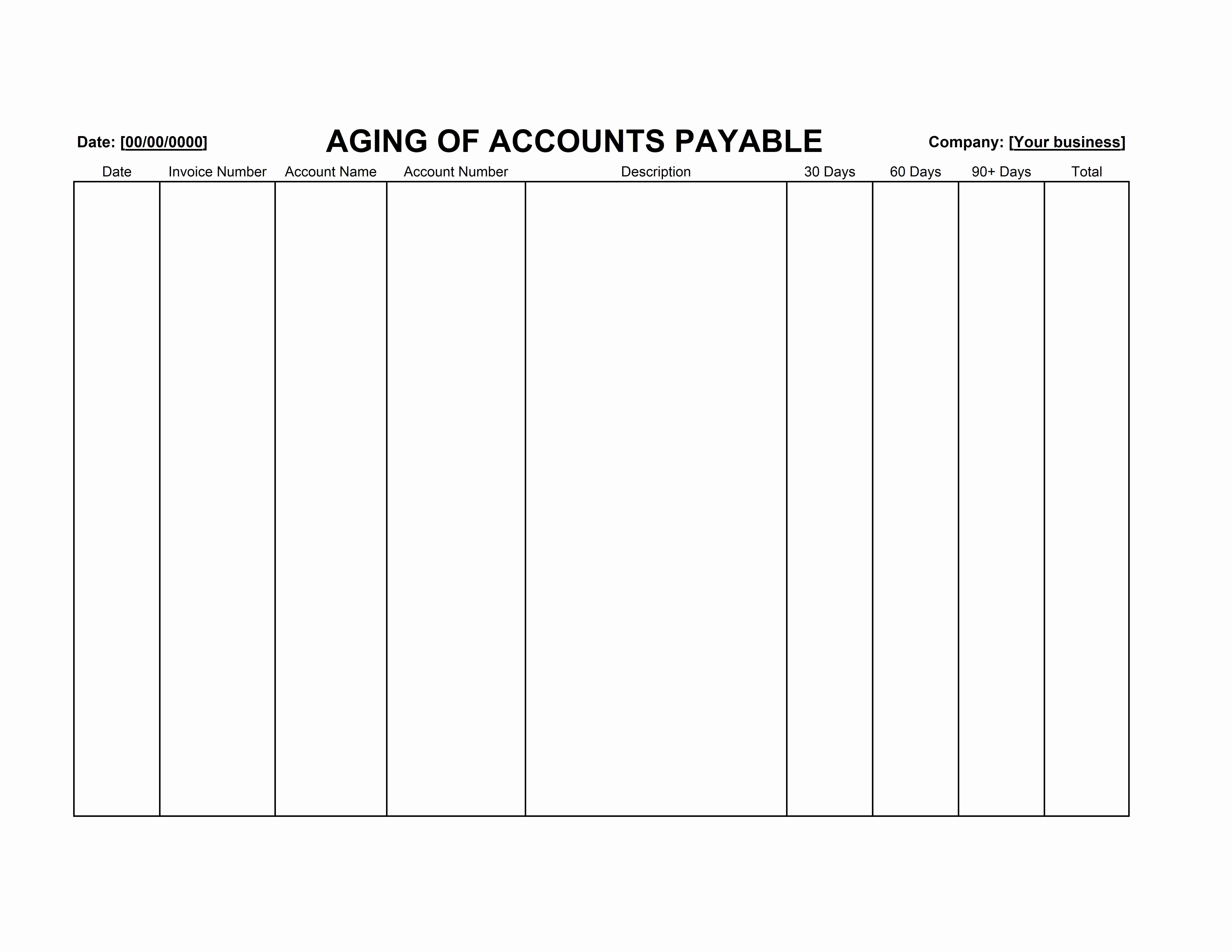 Accounts Receivable Excel Template Free Luxury Accounts Payable Aging Template