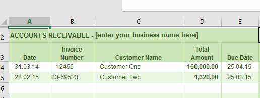 Accounts Receivable Ledger Excel Template Awesome Accounts Receivable Ledger
