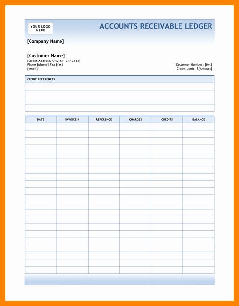 Accounts Receivable Ledger Excel Template Elegant 5 Accounts Receivable Ledger Excel Template