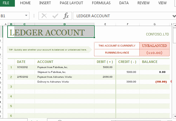 Accounts Receivable Ledger Excel Template Elegant Account Ledger Template