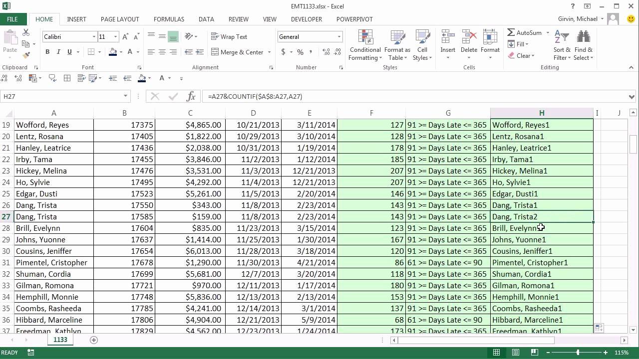 Accounts Receivable Ledger Excel Template Elegant Excel Magic Trick 1133 Aging Accounts Receivable Reports