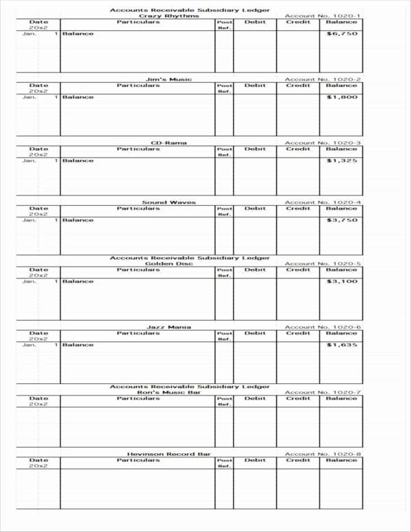 Accounts Receivable Ledger Excel Template Fresh 7 Accounts Receivable Spreadsheet Samples and Templates